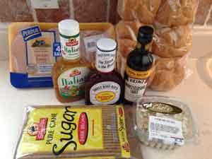 BBQ Pulled Chicken Supplies